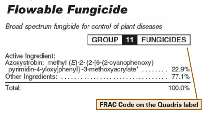 Pesticide label